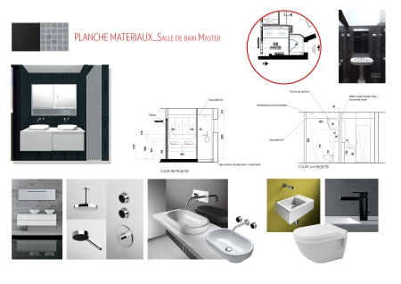 Planche matériaux_Salle de bain master