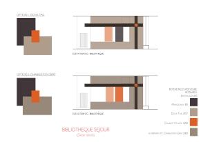 Bibliothèque sur-mesure_élévation colorisée