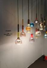 I Flauti, suspensions à LED en verre de Murano soufflé à la main par Giopato & Coombes