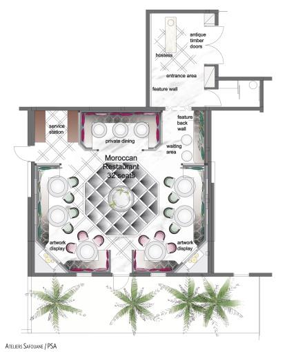 Restaurant Marocain _ Plan