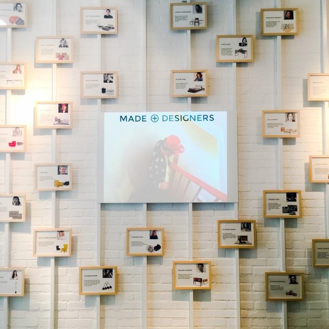 Dans l'entrée portraits des designers de la marque - Photo : Dounia Safouane