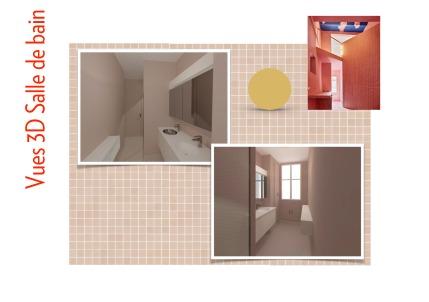 Salle de bain : vues 3D