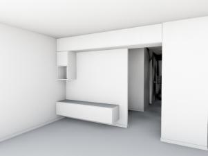 Maquette blanche meuble TV