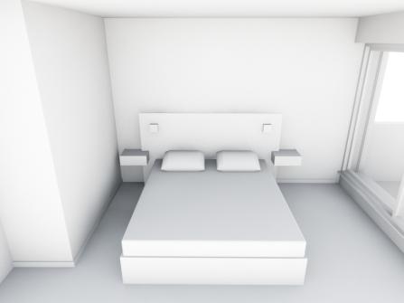 Maquette blanche tête de lit