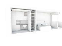 Maquette blanche bureau