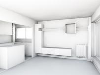 Maquette blanche meuble salle à manger